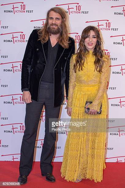 Actress Sabrina Impacciatore and her boyfriend arrive on the red carpet for Immaturi La Serie during the 2016 Rome Fiction Fest