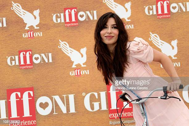 Actress Sabrina Impacciatore attends a photocall during Giffoni Experience 2010 on July 28 2010 in Giffoni Valle Piana Italy