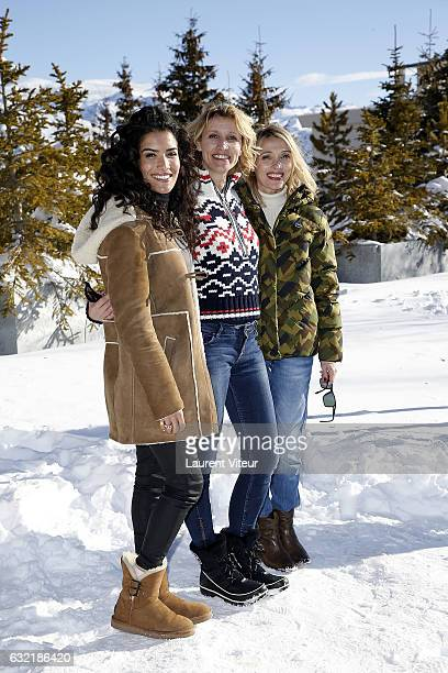 Actress Sabrina Ouazani Actress Alexandra Lamy and Actress Anne Marivin attend 'L'Embarras du Choix' Photocall At Hotel Chamois d'Or on January 20...