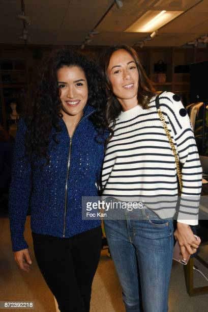 Actress Sabrina Ouazani and TV presenter Janane Boudili attends Stephane Kelian Pop Up Store Launch at L'Exception on November 9 2017 in Paris France