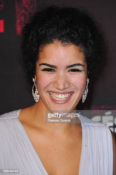Actress Sabrina Ouazani arrives at the 36th French Cesar film awards ceremony at Theatre du Chatelet on February 25 2011 in Paris France