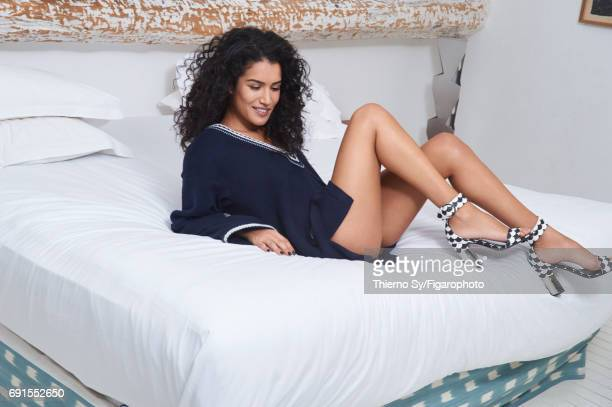 Actress Sabrina Ouazani is photographed for Madame Figaro on February 1 2017 in Paris France Tunic shoes PUBLISHED IMAGE CREDIT MUST READ Thierno...