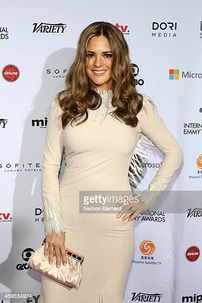 Actress Sabrina Seara attends the 2014 International Academy Of Television Arts Sciences Emmy Awards at New York Hilton on November 24 2014 in New...