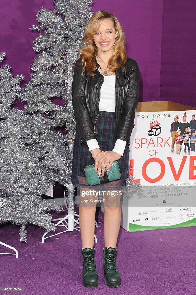 Actress Sadie Calvano arrives at the Los Angeles Premiere 'Justin Bieber's Believe' at Regal Cinemas L.A. Live on December 18, 2013 in Los Angeles, California.