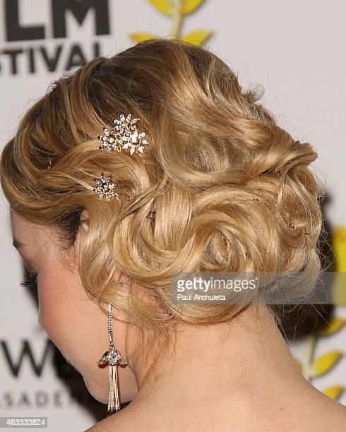 Actress Sadie Calvano attends the Pasadena International Film Festival opening night gala at The Westin Pasadena on February 12 2015 in Pasadena...