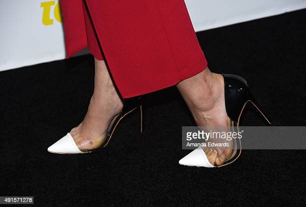 Actress Sadie Calvano shoe detail arrives at Teen Vogue's 13th Annual Young Hollywood Issue Launch Party on October 2 2015 in Los Angeles California