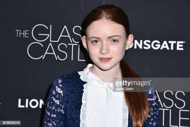 Actress Sadie Sink attends 'The Glass Castle' New York Screening at SVA Theatre on August 9 2017 in New York City