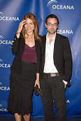 Actress Saffron Burrows and guest arrive to the annual Oceana Partner's Awards Gala honoring former Vice President Al Gore at the home of Jena and...