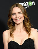 Actress Saffron Burrows arrives at the screening and QA for Amazon's 'Mozart In The Jungle' at Hollywood Roosevelt Hotel on April 21 2016 in...