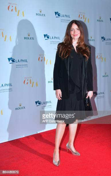 Actress Saffron Burrows arrives for the Los Angeles Philharmonic's 2017/18 Opening Night Gala 'Mozart The Early Years' in Los Angeles California on...