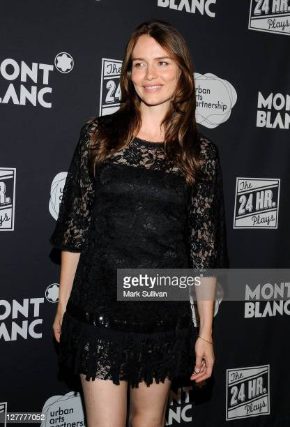Actress Saffron Burrows arrives for the Montblanc presents the west coast debut of The 24 Hour Plays after party on June 18 2011 in Santa Monica...