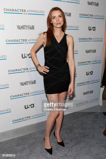 Actress Saffron Burrows attends the 2nd Annual Character Approved Awards cocktail reception at The IAC Building on February 25 2010 in New York City