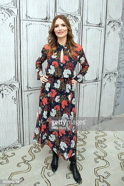 Actress Saffron Burrows attends the AOL BUILD Series 'Mozart In The Jungle' at AOL Studios In New York on December 9 2015 in New York City