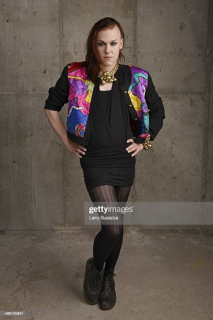 Actress Saga Becker from 'Something Must Break' poses for the Tribeca Film Festival Getty Images Studio on April 22, 2014 in New York City.