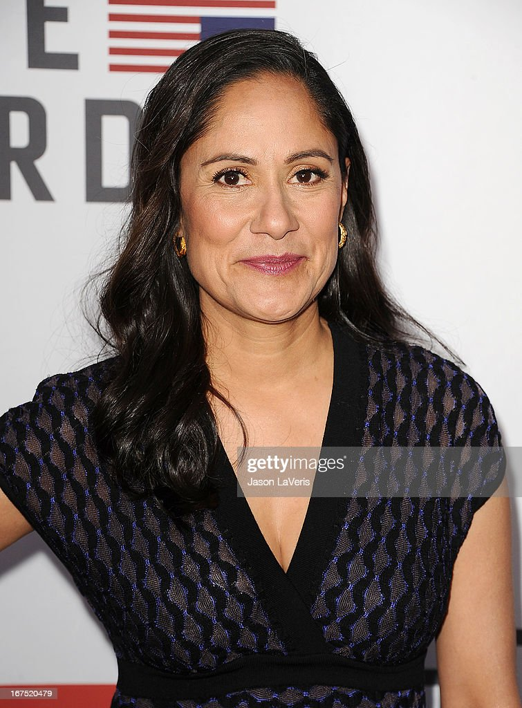 Actress Sakina Jaffrey attends a Q&A for 'House Of Cards' at Leonard H. Goldenson Theatre on April 25, 2013 in North Hollywood, California.