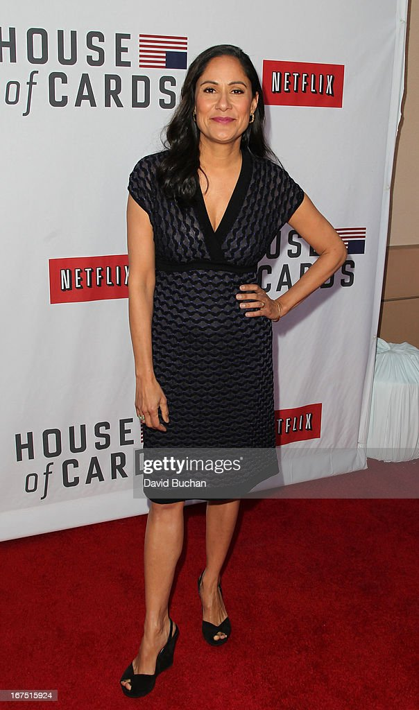 Actress Sakina Jaffrey attends Netflix's 'House Of Cards' For Your Consideration Q&A Event at Leonard H. Goldenson Theatre on April 25, 2013 in North Hollywood, California.
