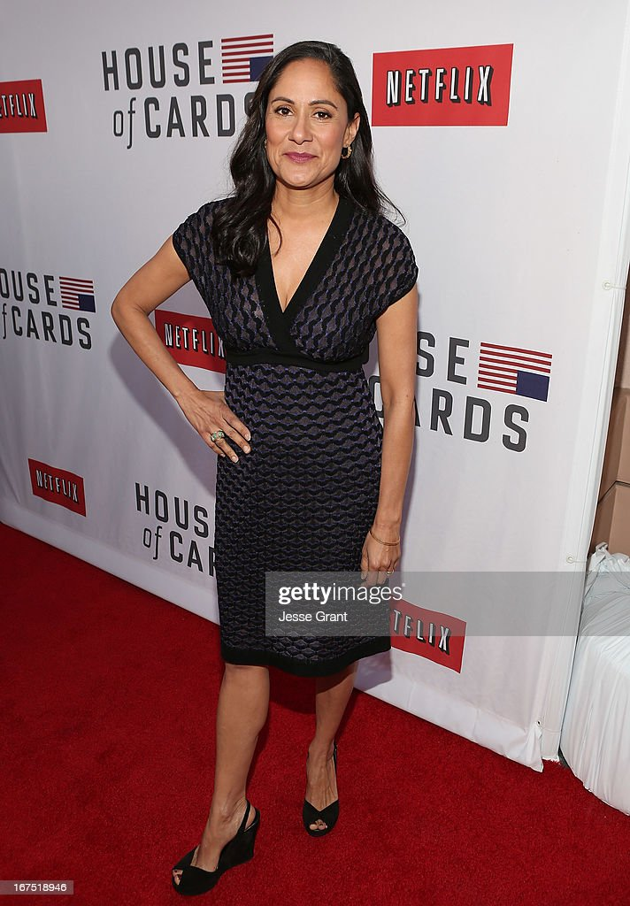 Actress Sakina Jaffrey attends Netflix's 'House of Cards' For Your Consideration Q&A on April 25, 2013 at the Leonard H. Goldenson Theatre in North Hollywood, California.