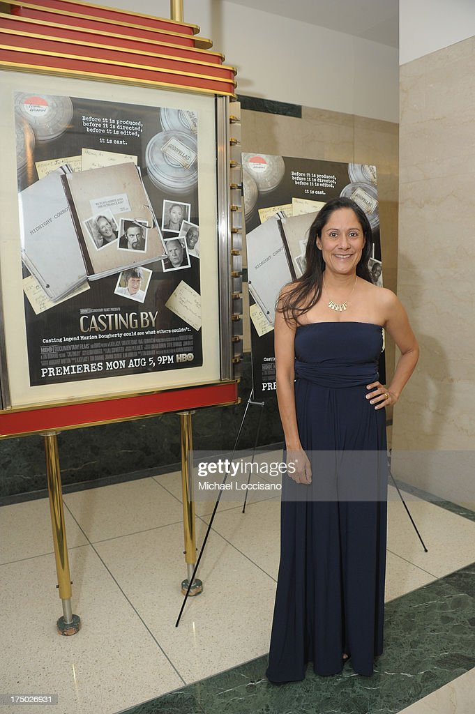 Actress <a gi-track='captionPersonalityLinkClicked' href=/galleries/search?phrase=Sakina+Jaffrey&family=editorial&specificpeople=3013998 ng-click='$event.stopPropagation()'>Sakina Jaffrey</a> attends the New York Premiere of HBO Documentary 'Casting By' at HBO Theater on July 29, 2013 in New York City.
