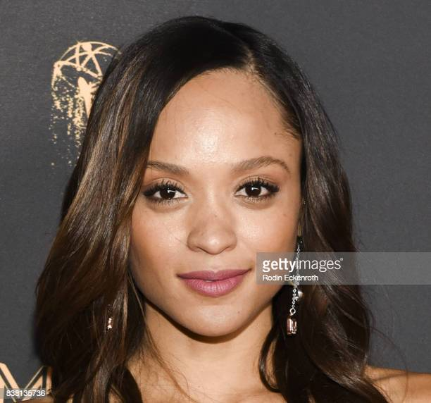 Actress Sal Stowers attends the Television Academy's Cocktail Reception with Stars of Daytime Television Celebrating 69th Emmy Awards at Saban Media...
