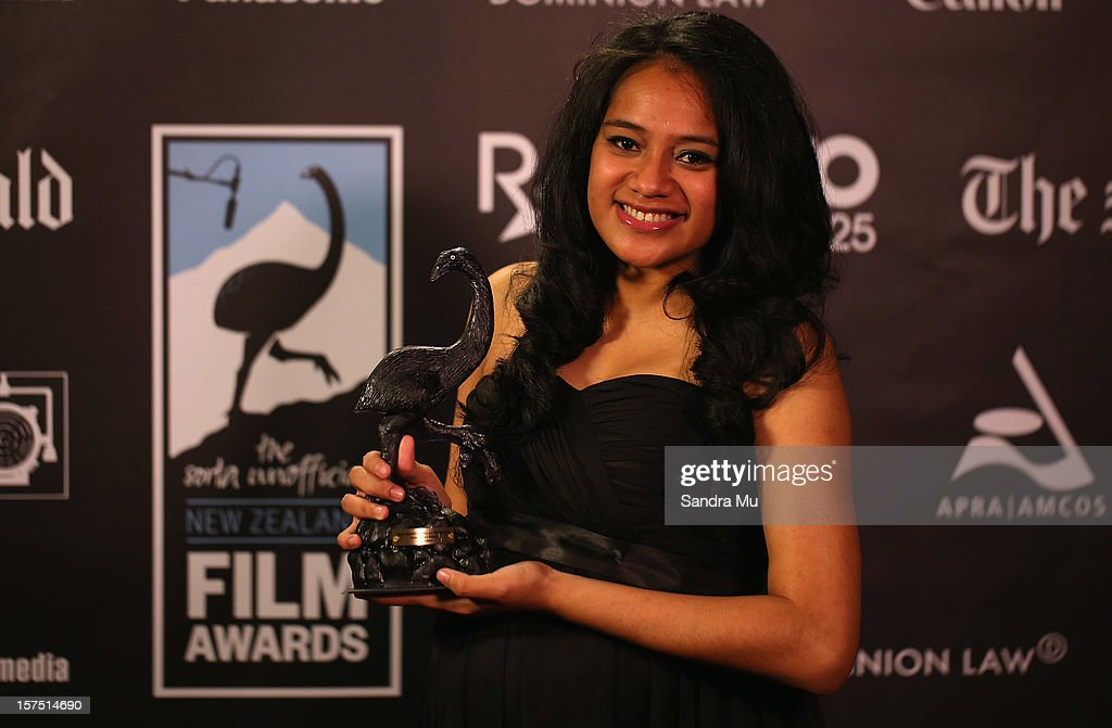 Actress Salamasina Mataiaj of Orator poses with her award for Best Supporting Actress during the MOA 'Unofficial' New Zealand Film Awards at The Civic on December 4, 2012 in Auckland, New Zealand.