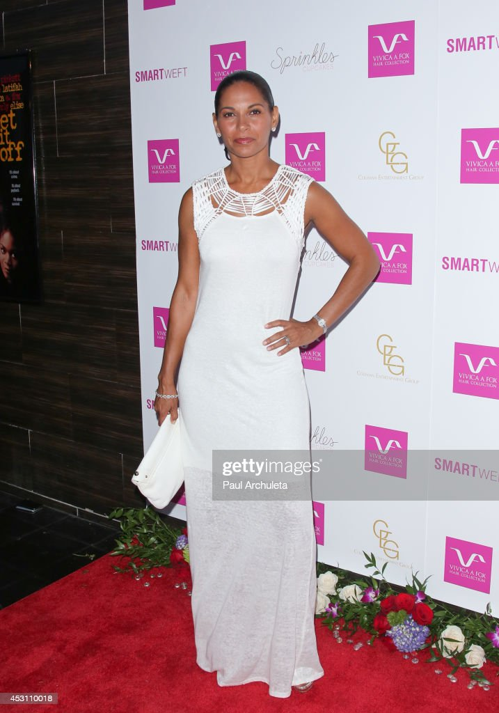 Actress Salli Richardson attends Vivica A. Fox's 50th birthday celebration at Philippe Chow on August 2, 2014 in Beverly Hills, California.