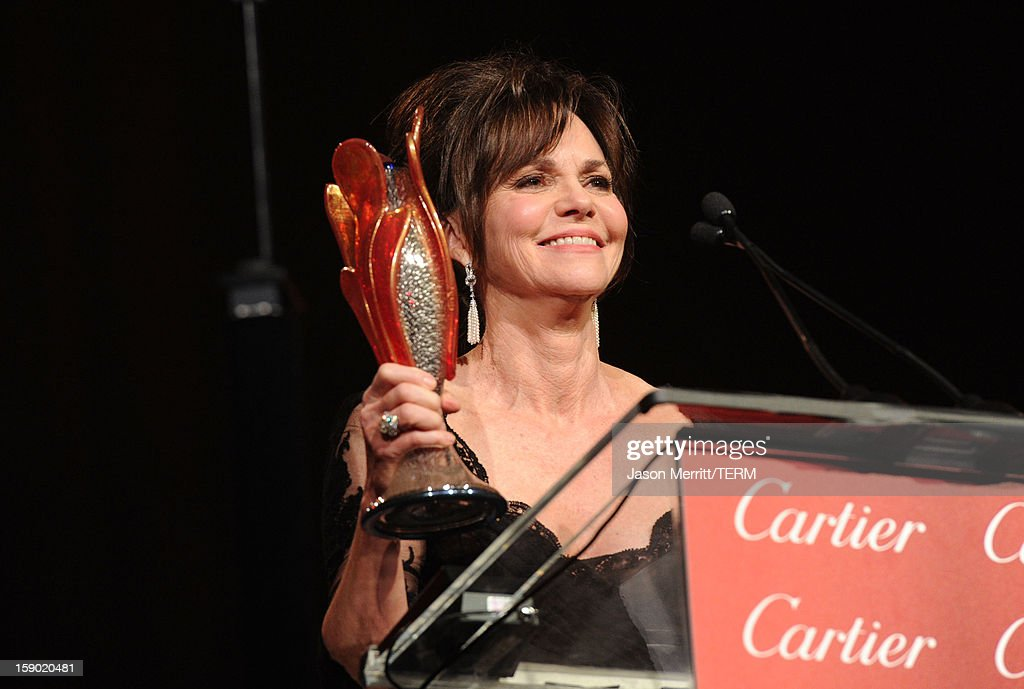 Actress Sally Field accepts the Career Achievement Award onstage during the 24th annual Palm Springs International Film Festival Awards Gala at the Palm Springs Convention Center on January 5, 2013 in Palm Springs, California.