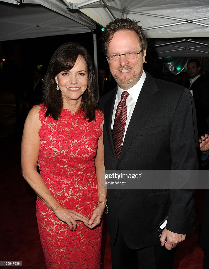 Actress Sally Field (L) and AFI President and CEO Bob Gazzale arrive at the 'Lincoln' premiere during AFI Fest 2012 presented by Audi at Grauman's Chinese Theatre on November 8, 2012 in Hollywood, California.