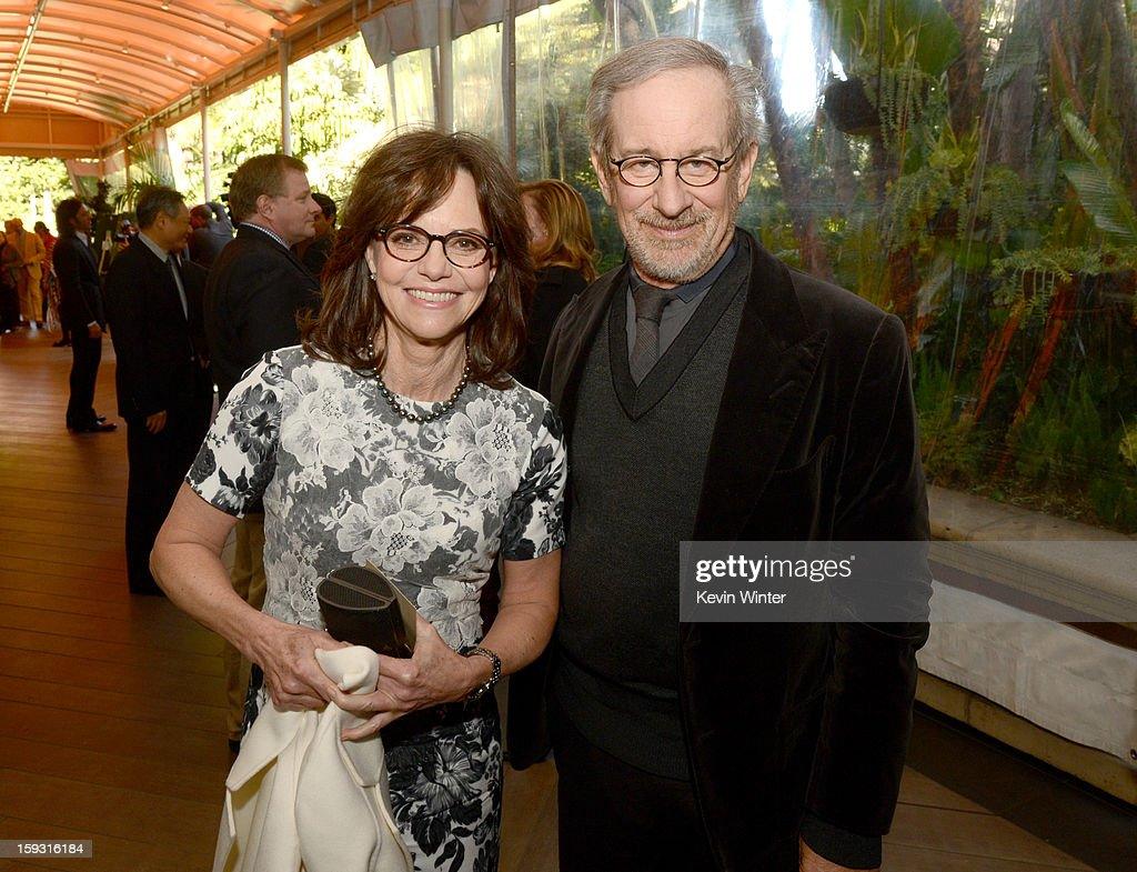Actress <a gi-track='captionPersonalityLinkClicked' href=/galleries/search?phrase=Sally+Field&family=editorial&specificpeople=206350 ng-click='$event.stopPropagation()'>Sally Field</a> (L) and director <a gi-track='captionPersonalityLinkClicked' href=/galleries/search?phrase=Steven+Spielberg&family=editorial&specificpeople=202022 ng-click='$event.stopPropagation()'>Steven Spielberg</a> attend the 13th Annual AFI Awards at Four Seasons Los Angeles at Beverly Hills on January 11, 2013 in Beverly Hills, California.