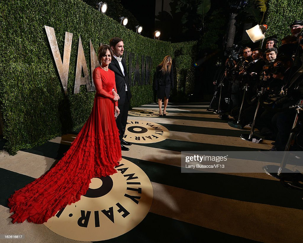 Actress Sally Field and Sam Greisman arrive for the 2013 Vanity Fair Oscar Party hosted by Graydon Carter at Sunset Tower on February 24, 2013 in West Hollywood, California.