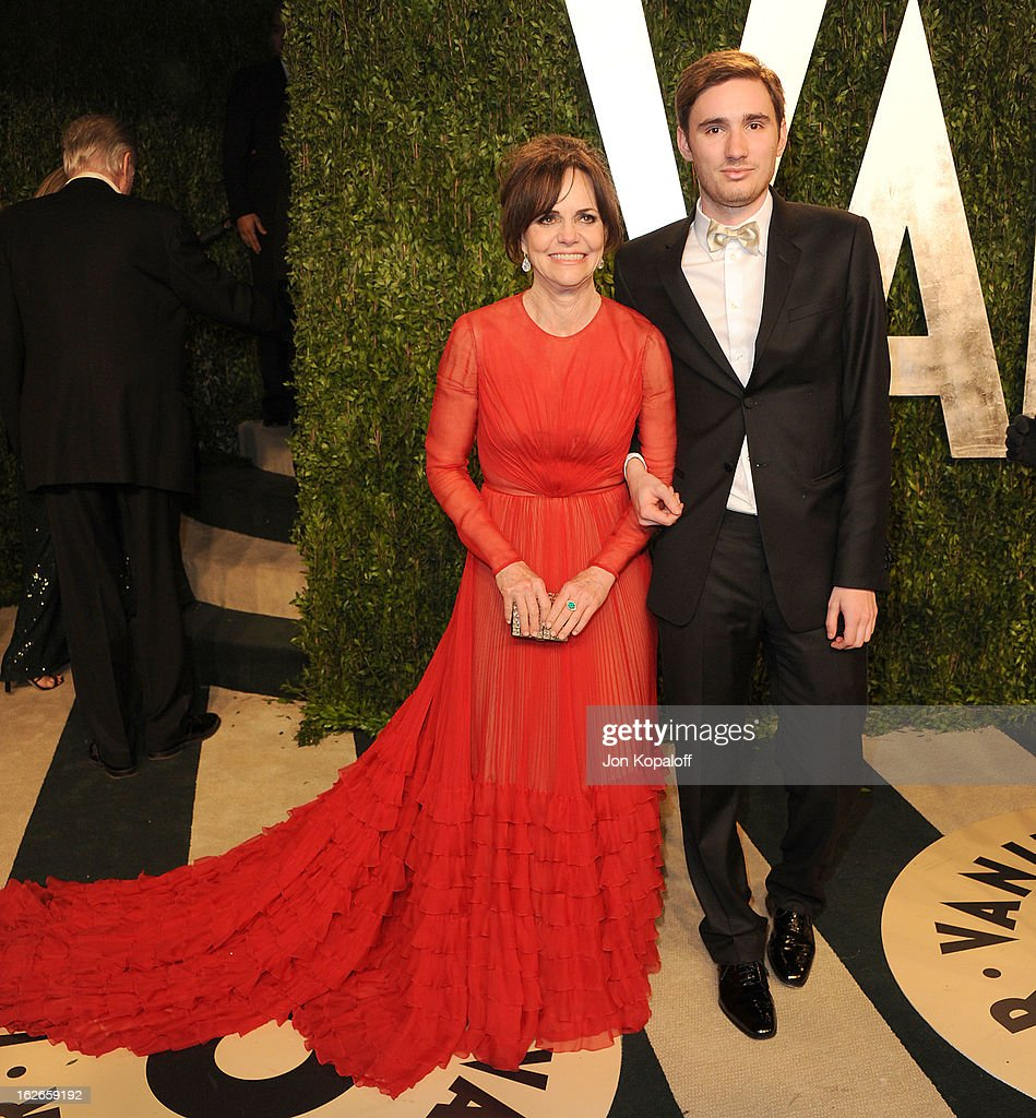 Actress Sally Field and Sam Greisman attend the 2013 Vanity Fair Oscar party at Sunset Tower on February 24, 2013 in West Hollywood, California.