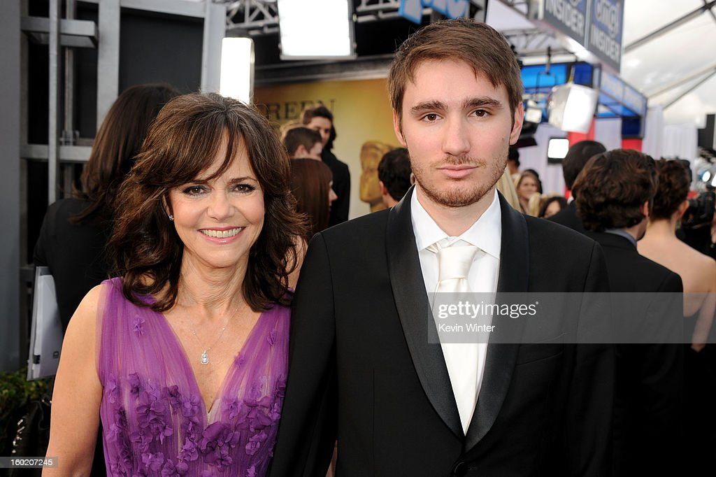 Actress Sally Field and son Sam Greisman attend the 19th Annual Screen Actors Guild Awards at The Shrine Auditorium on January 27 2013 in Los Angeles...