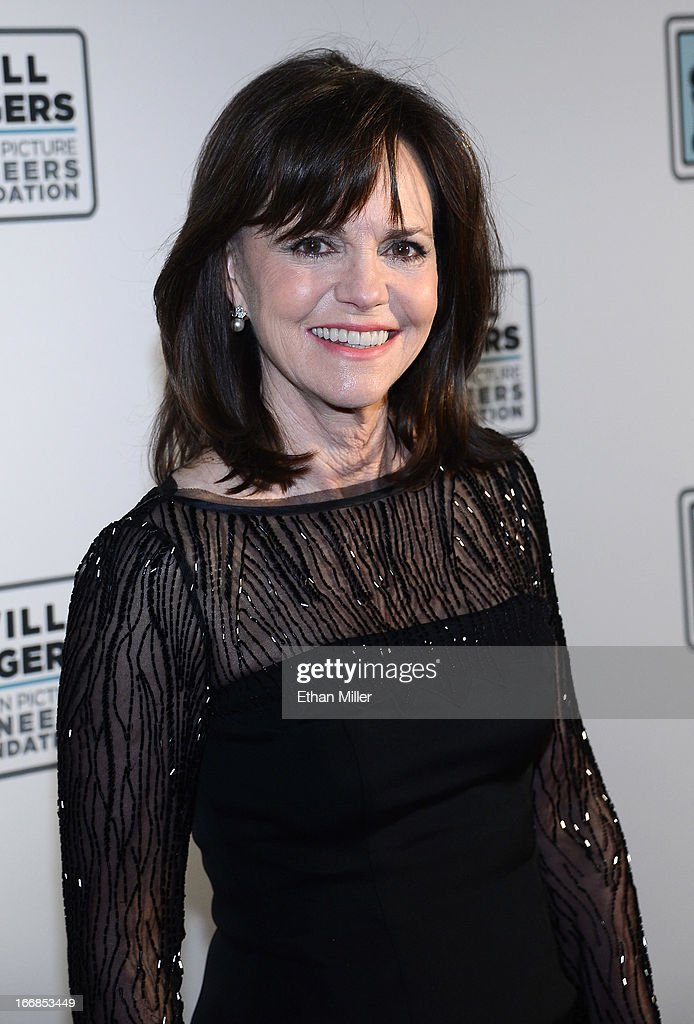 Actress Sally Field arrives at a Will Rogers Motion Picture Pioneers Foundation dinner honoring producer Kathleen Kennedy with the 2013 Pioneer of...