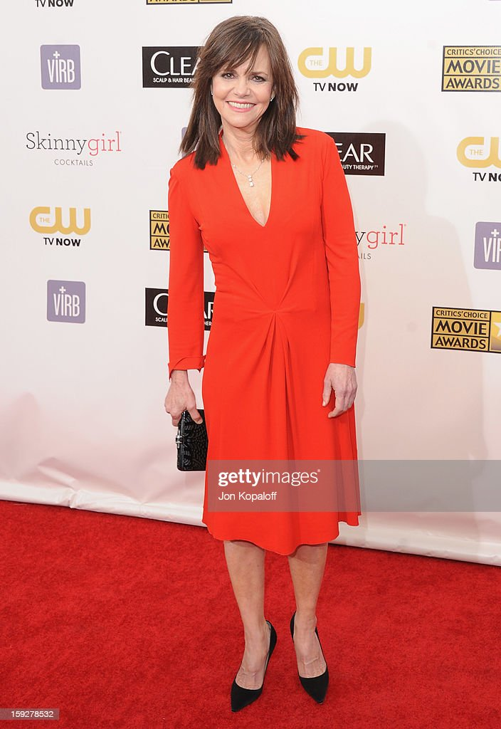 Actress Sally Field arrives at the 18th Annual Critics' Choice Movie Awards at Barker Hangar on January 10, 2013 in Santa Monica, California.
