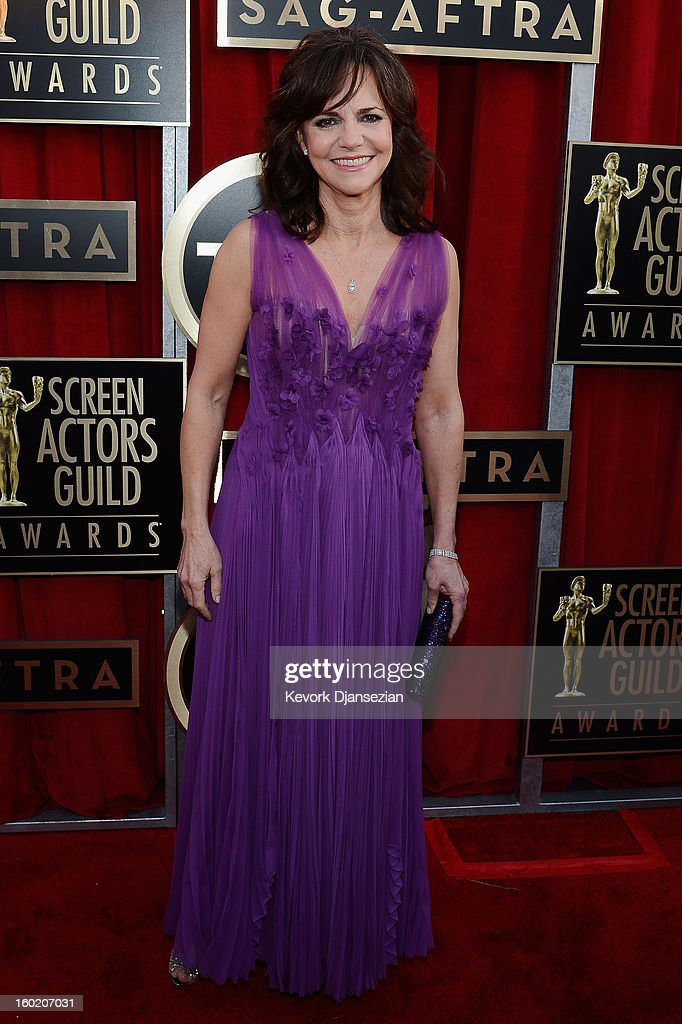 Actress Sally Field arrives at the 19th Annual Screen Actors Guild Awards held at The Shrine Auditorium on January 27, 2013 in Los Angeles, California.