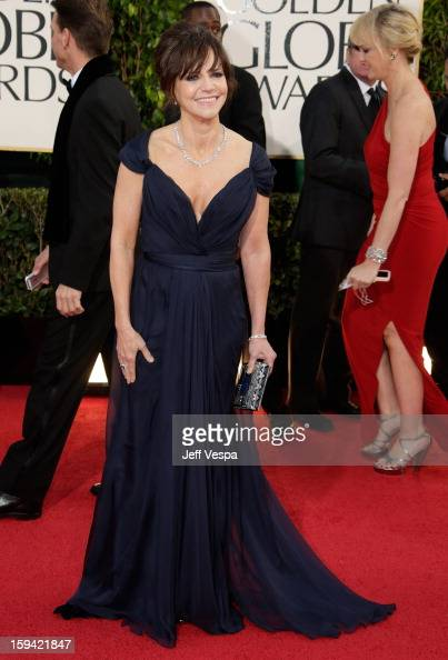 Actress Sally Field arrives at the 70th Annual Golden Globe Awards held at The Beverly Hilton Hotel on January 13 2013 in Beverly Hills California