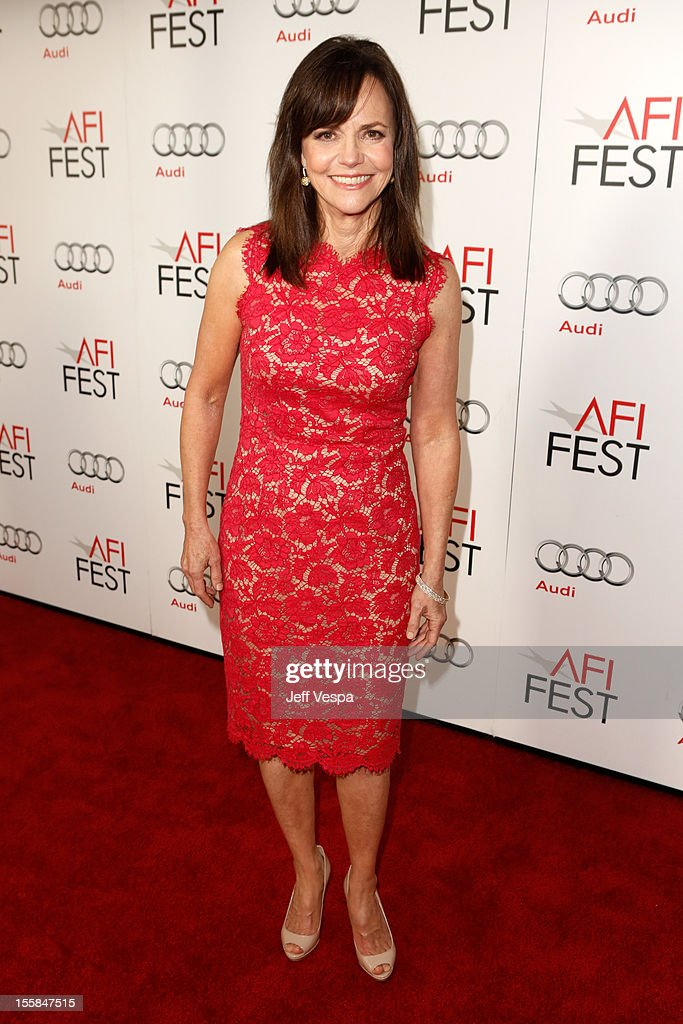 Actress <a gi-track='captionPersonalityLinkClicked' href=/galleries/search?phrase=Sally+Field&family=editorial&specificpeople=206350 ng-click='$event.stopPropagation()'>Sally Field</a> arrives at the 'Lincoln' closing night gala premiere during AFI Fest 2012 at Grauman's Chinese Theatre on November 8, 2012 in Hollywood, California.