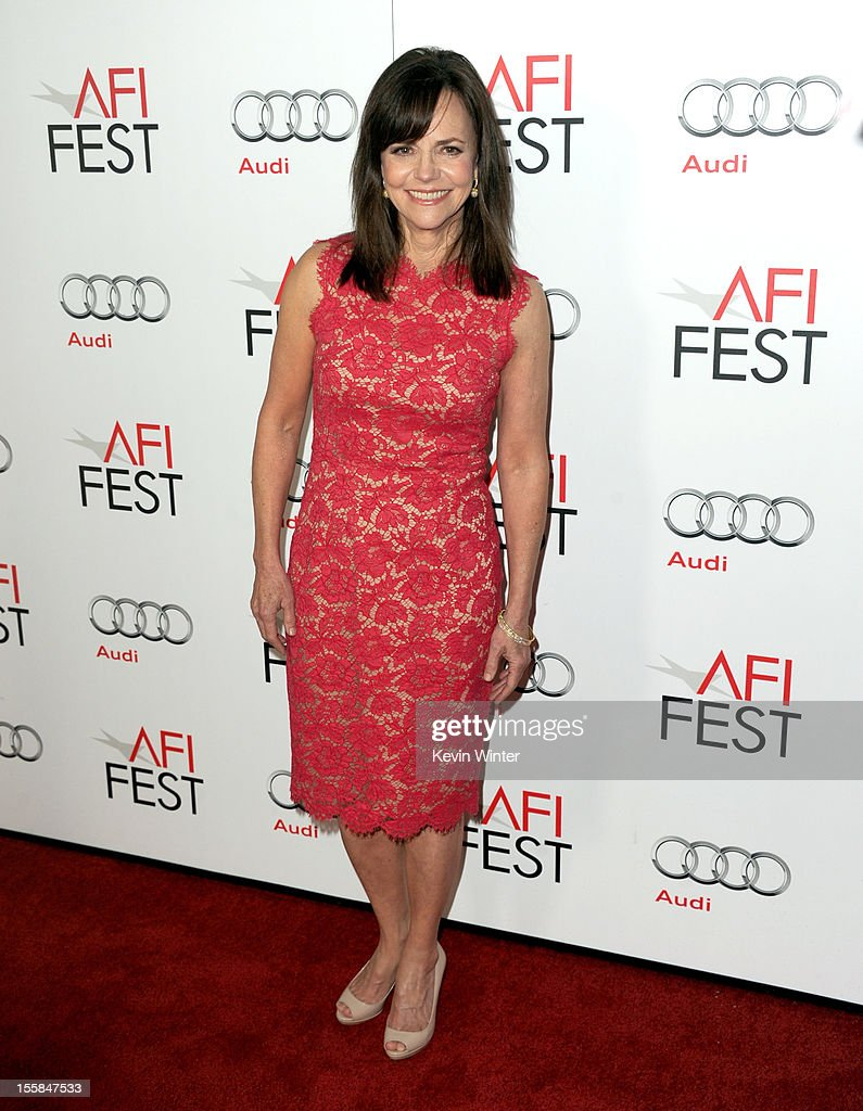 Actress <a gi-track='captionPersonalityLinkClicked' href=/galleries/search?phrase=Sally+Field&family=editorial&specificpeople=206350 ng-click='$event.stopPropagation()'>Sally Field</a> arrives at the 'Lincoln' premiere during AFI Fest 2012 presented by Audi at Grauman's Chinese Theatre on November 8, 2012 in Hollywood, California.