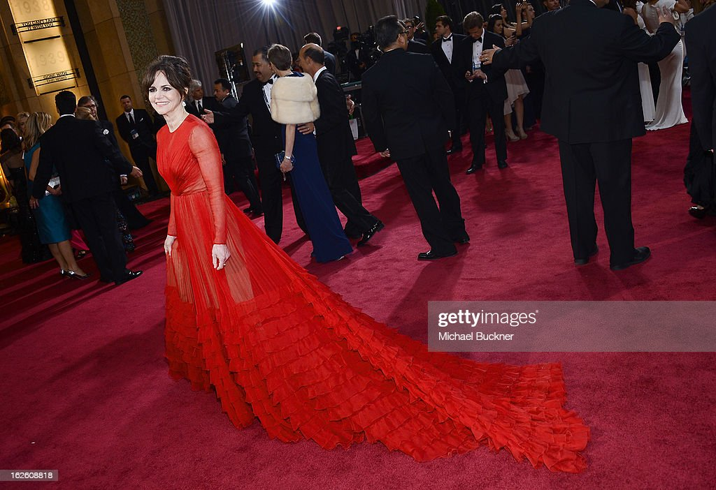 Actress Sally Field arrives at the Oscars at Hollywood & Highland Center on February 24, 2013 in Hollywood, California.