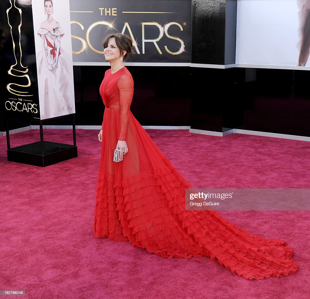 Actress <a gi-track='captionPersonalityLinkClicked' href=/galleries/search?phrase=Sally+Field&family=editorial&specificpeople=206350 ng-click='$event.stopPropagation()'>Sally Field</a> arrives at the Oscars at Hollywood & Highland Center on February 24, 2013 in Hollywood, California.