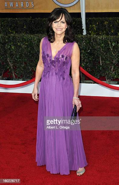 Actress Sally Field arrives for the 19th Annual Screen Actors Guild Awards Arrivals held at The Shrine Auditorium on January 27 2013 in Los Angeles...