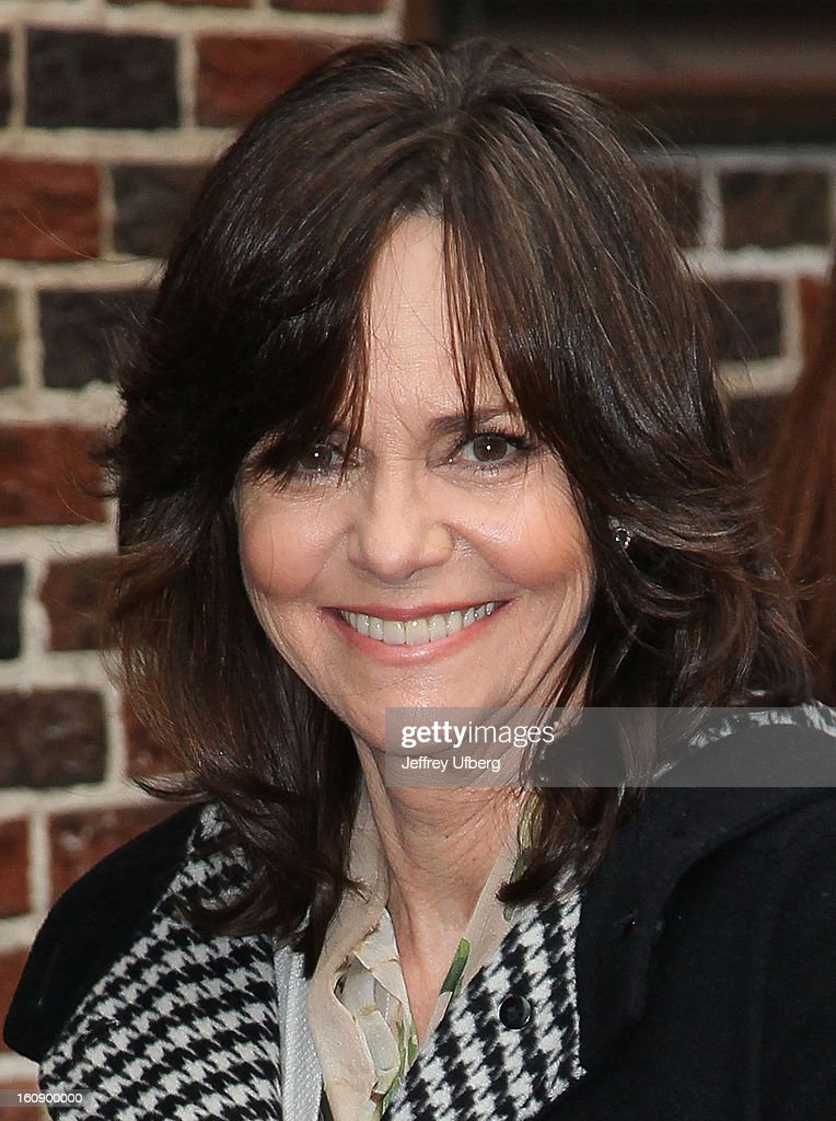 Actress Sally Field arrives to 'Late Show with David Letterman' at Ed Sullivan Theater on February 7, 2013 in New York City.