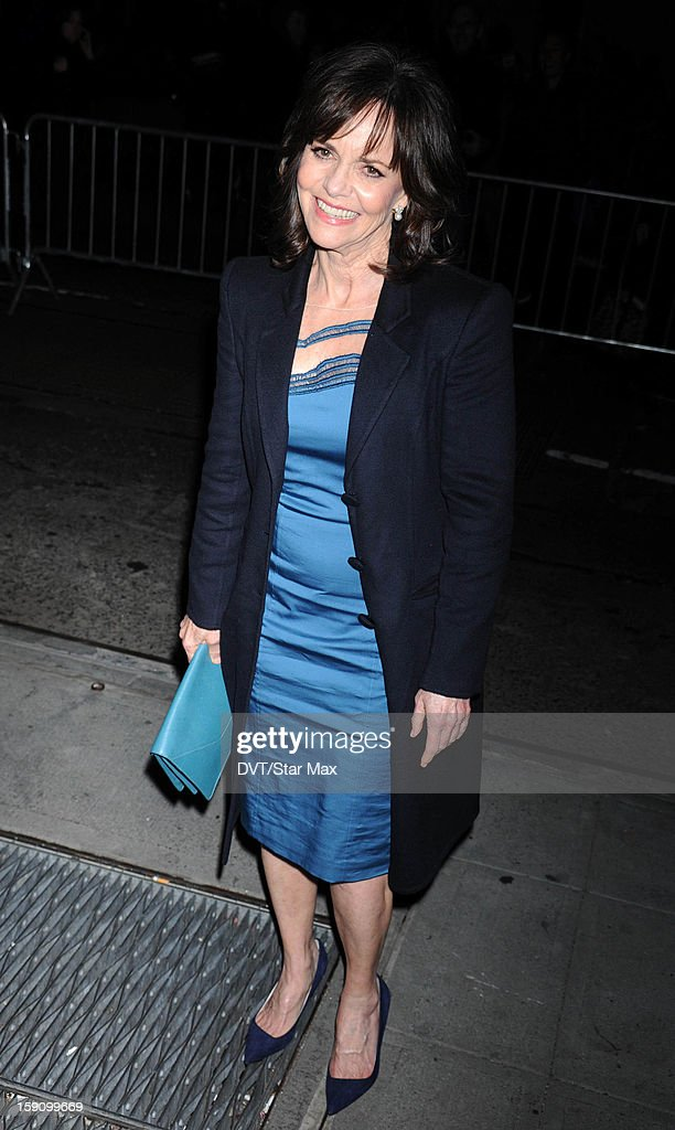 Actress Sally Field as seen on January 7, 2013 in New York City.