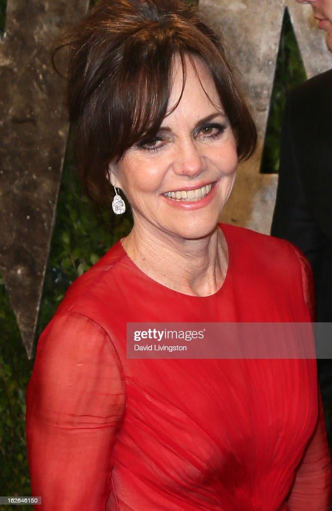 Actress Sally Field attends the 2013 Vanity Fair Oscar Party at the Sunset Tower Hotel on February 24, 2013 in West Hollywood, California.