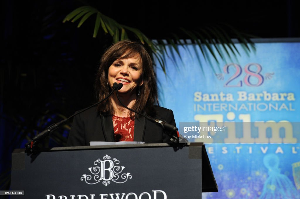 Actress <a gi-track='captionPersonalityLinkClicked' href=/galleries/search?phrase=Sally+Field&family=editorial&specificpeople=206350 ng-click='$event.stopPropagation()'>Sally Field</a> attends the 28th Santa Barbara International Film Festival Montecito Award on January 26, 2013 in Santa Barbara, California.