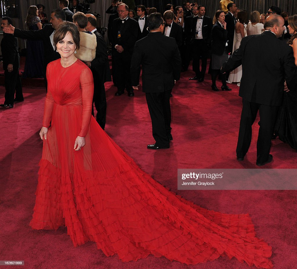Actress Sally Field attends the 85th Annual Academy Awards at Hollywood & Highland Center on February 24, 2013 in Hollywood, California.