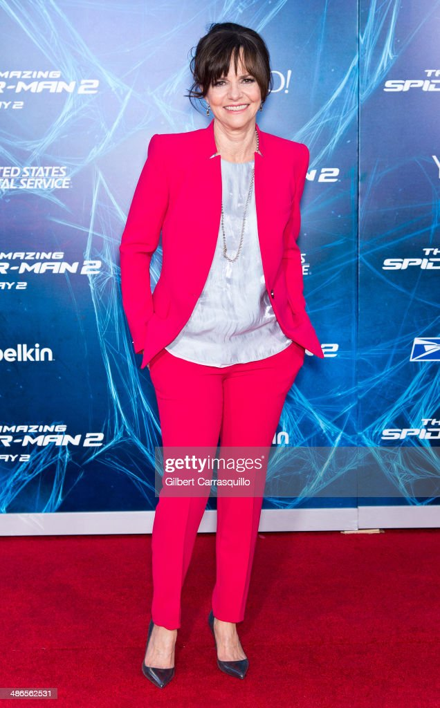 Actress <a gi-track='captionPersonalityLinkClicked' href=/galleries/search?phrase=Sally+Field&family=editorial&specificpeople=206350 ng-click='$event.stopPropagation()'>Sally Field</a> attends 'The Amazing Spider-Man 2' premiere at the Ziegfeld Theater on April 24, 2014 in New York City.