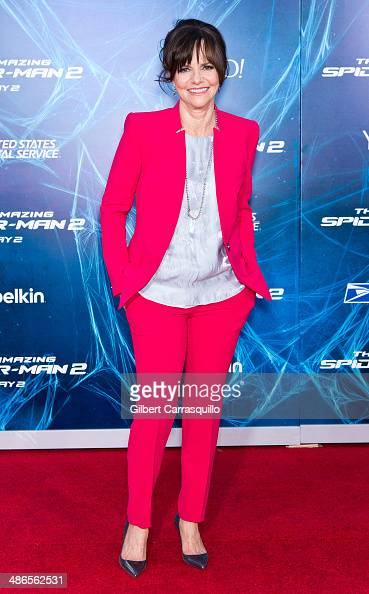 Actress Sally Field attends 'The Amazing SpiderMan 2' premiere at the Ziegfeld Theater on April 24 2014 in New York City