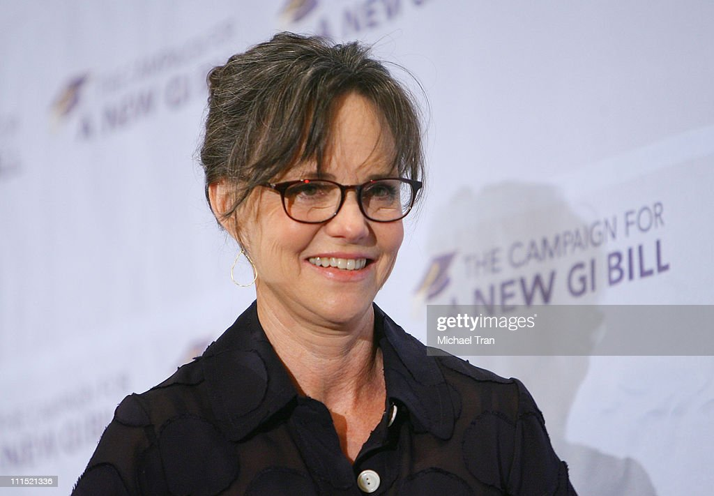 Actress Sally Field attends the reception to campaign for the new GI Bill held at the Beverly Hilton hotel on June 22 2008 in Beverly Hills California
