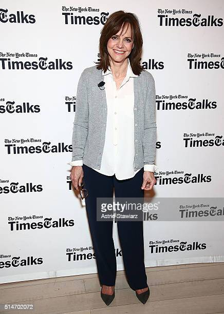 Actress Sally Field attends TimesTalks Featuring Sally Field 'Hello My Name Is Doris' at TheTimesCenter on March 10 2016 in New York City