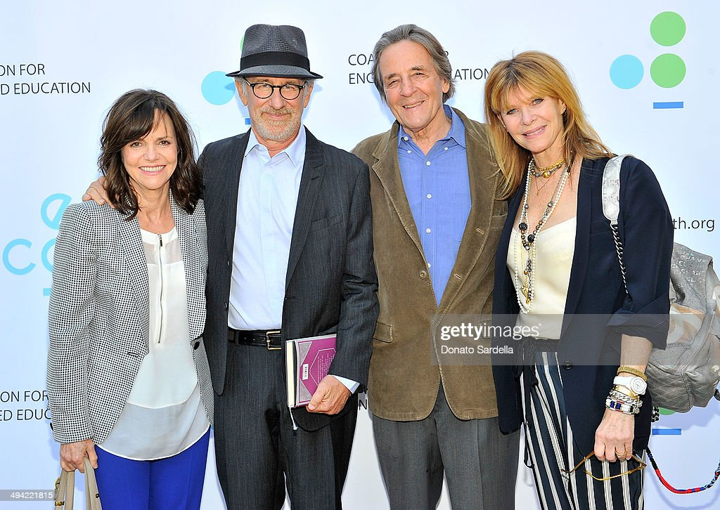 Actress Sally Field, Director Steven Spielberg, Kate Capshaw and Founder, President and CEO of Coalition For Engaged Education Paul Cummins attend the first annual Poetic Justice Fundraiser for the Coalition For Engaged Education at the Herb Alpert Educational Village on May 28, 2014 in Santa Monica, California.